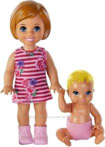 Две куколки Barbie Skipper Babysitters Inc. Dolls, 2 Pack of Sibling Dolls