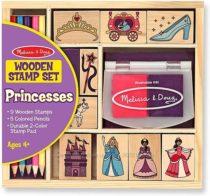 Набор штампов Принцессы Melissa & Doug Wooden Princess Stamp Set