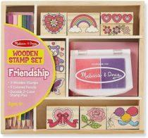 Набор штампов Дружба Melissa & Doug Wooden Friendship Stamp Set .