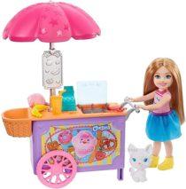 Челси Тележка для закусок Barbie Club Chelsea Doll and Snack Cart