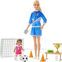 Барби футбольный тренер Barbie Soccer Coach блондинка.