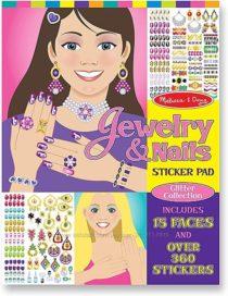 Многоразовые наклейки Украшения и Ногти  Melissa & Doug Jewelry & Nails