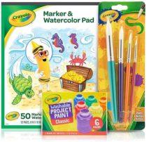 Набор Крайола для рисования Crayola альбом для акварели, кисточки, краски