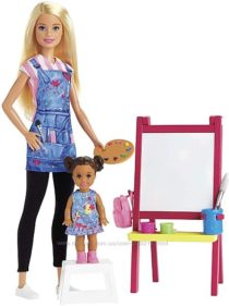 Кукла Барби учитель искусства Barbie Art Teacher Playset with Blonde Doll