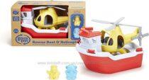 Эко игрушка Спасательная Лодка и Вертолет Green Toys Rescue Boat