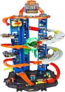 Hot Wheels Легендарный гараж с динозавром City Robo T-Rex Ultimate Garage
