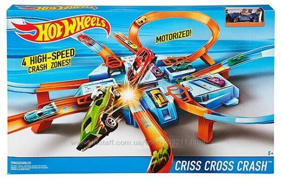 Трек Хот Вилс опасный перекресток Hot Wheels Criss Cross Crash Track