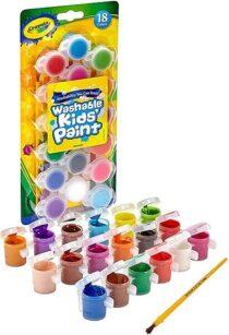 Crayola Смываемые краски 18 цветов Washable Kid&acutes Paint Assorted Colors 18