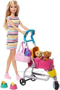 Кукла Барби Прогулка со щенками блондинка Barbie Stroll &acuten Play Pups