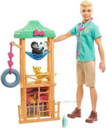 Набор Barbie Кен ветеринар и дикие животные Ken Wildlife Vet Playset