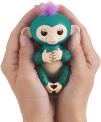 Интерактивная обезьянка Fingerlings Glitter Monkey WowWee изумрудная